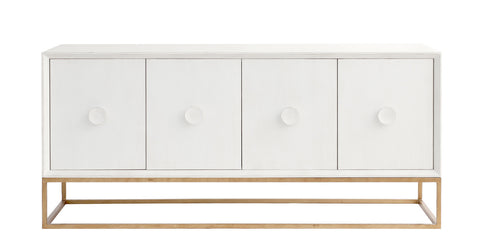 Spencer Entertainment Console in Raw Cotton design by Redford House