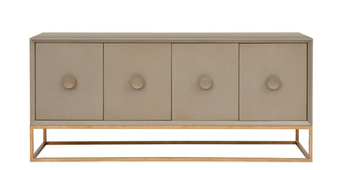 Spencer Entertainment Console in Taupe design by Redford House