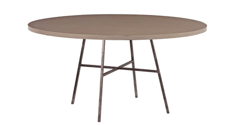 Spencer Round Dining Table in Taupe design by Redford House