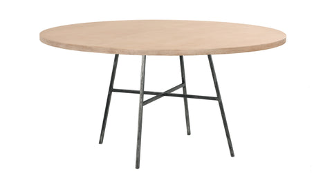 Spencer Round Dining Table in Cashew design by Redford House