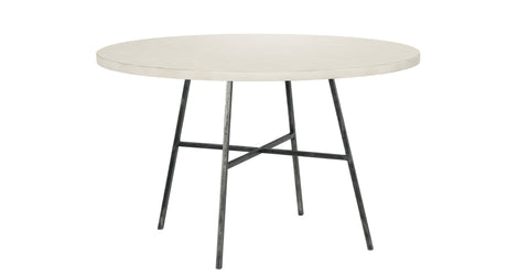 Spencer Round Dining Table in Raw Cotton design by Redford House