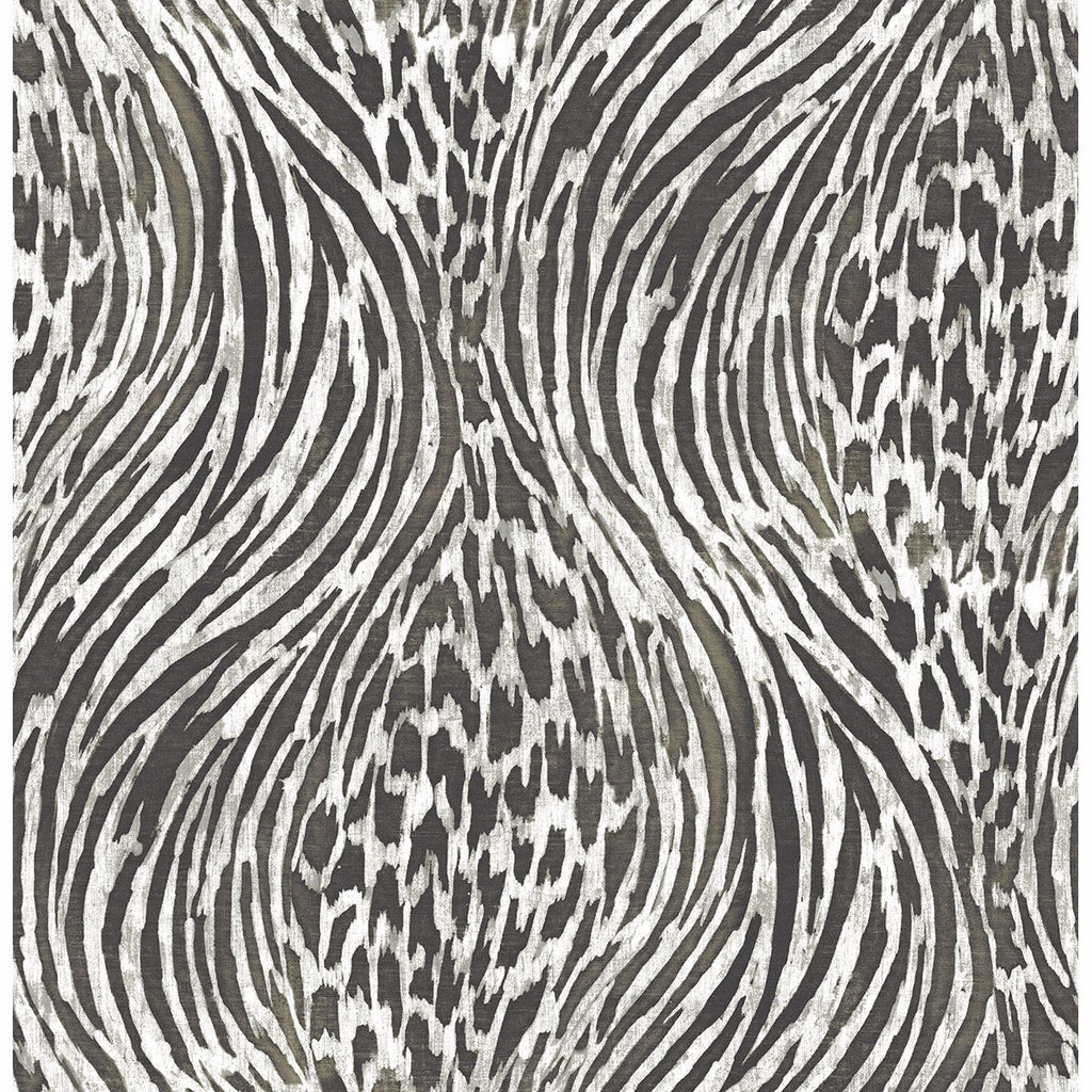Splendid Animal Print Wallpaper in Platinum from the Moonlight Collection by Brewster Home Fashions