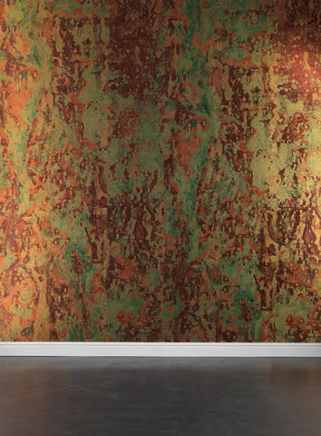Spoiled Copper Metallic Wallpaper design by Piet Hein Eek for NLXL Lab