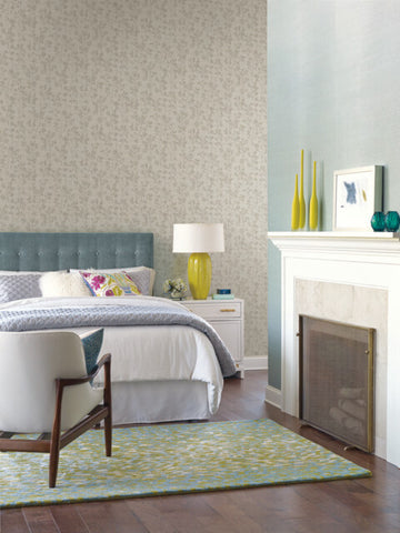 Sprig Wallpaper in Grey from the Moderne Collection by Stacy Garcia for York Wallcoverings