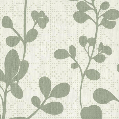 Sprig Wallpaper in Sage from the Moderne Collection by Stacy Garcia for York Wallcoverings