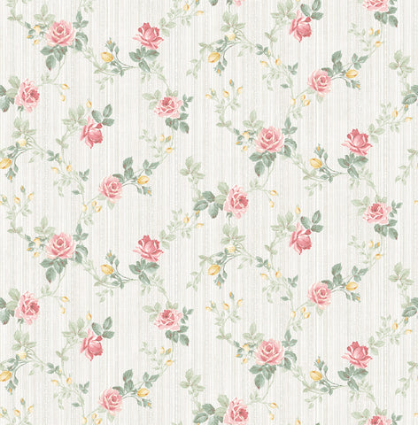 Spring Trail Wallpaper in Blush from the Spring Garden Collection by Wallquest