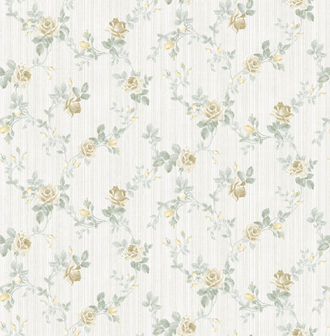 Spring Trail Wallpaper in Golden Grey from the Spring Garden Collection by Wallquest