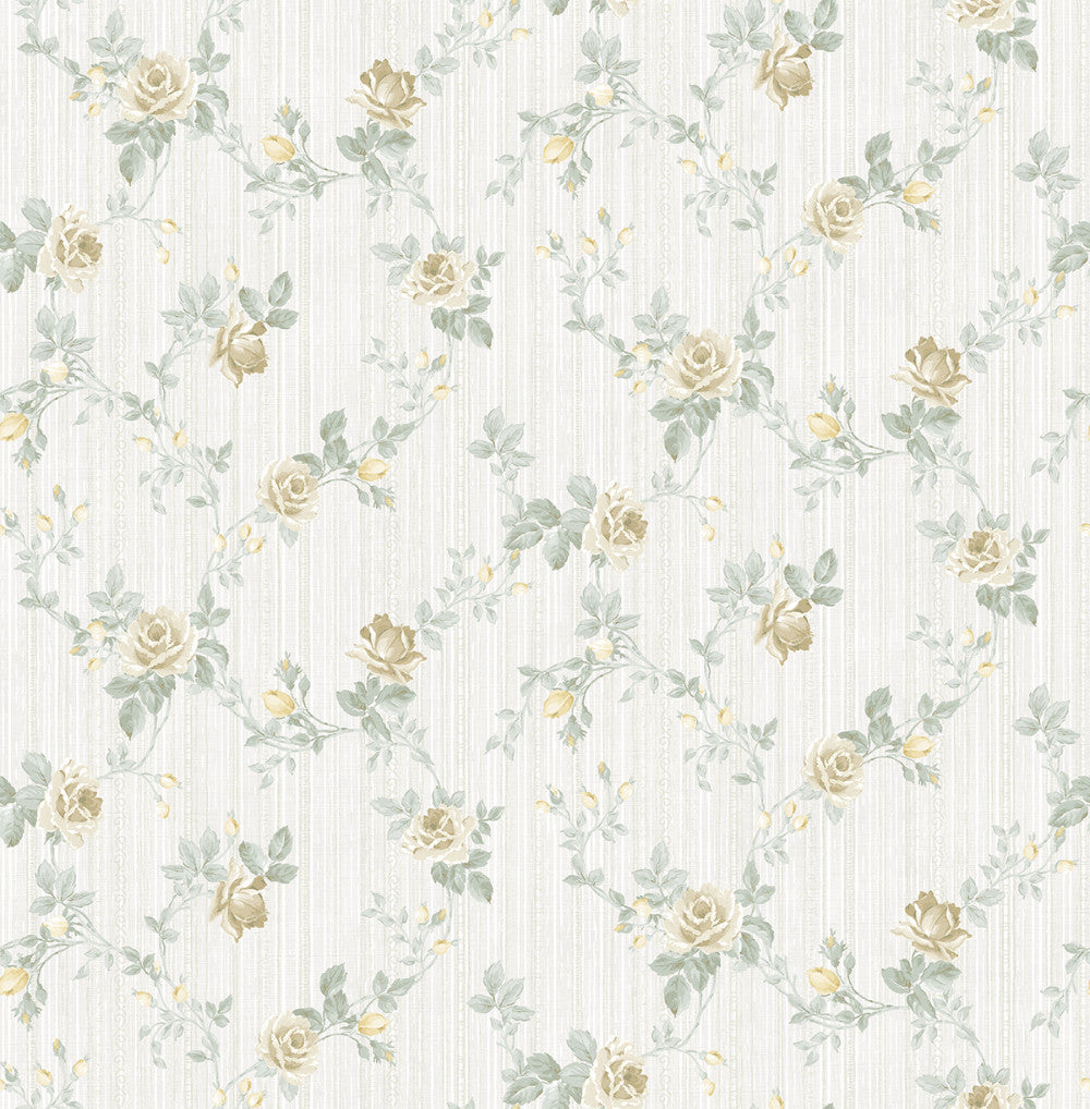 Sample Spring Trail Wallpaper in Golden Grey from the Spring Garden Collection by Wallquest