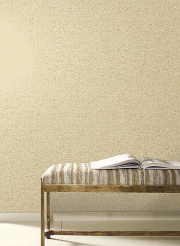 Sprinkle Wallpaper in Gold and Pearlescent Beige by Antonina Vella for York Wallcoverings