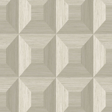 Squared Away Geometric Wallpaper in Brown from the More Textures Collection by Seabrook Wallcoverings