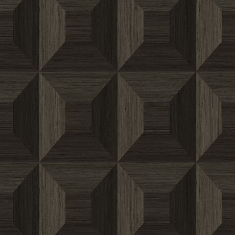 Squared Away Geometric Wallpaper in Sand Dollar from the More Textures Collection by Seabrook Wallcoverings