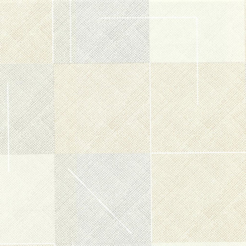 Squares Wallpaper in Linen by Hawkins New York