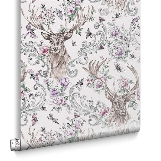 Stag Wallpaper from the Exclusives Collection by Graham & Brown