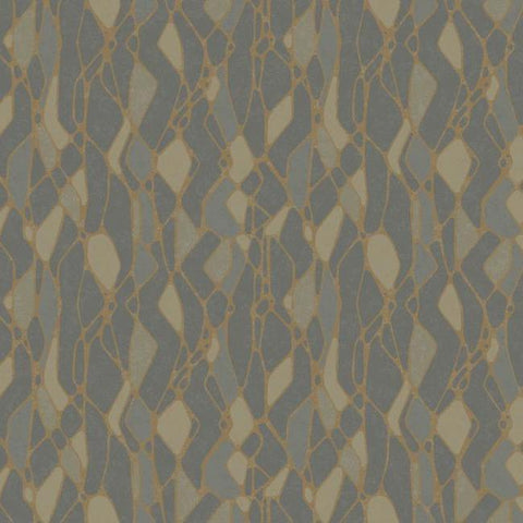 Stained Glass Wallpaper in Dark Grey from the Botanical Dreams Collection by Candice Olson for York Wallcoverings