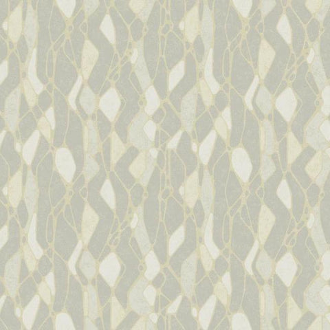 Stained Glass Wallpaper in Grey from the Botanical Dreams Collection by Candice Olson for York Wallcoverings