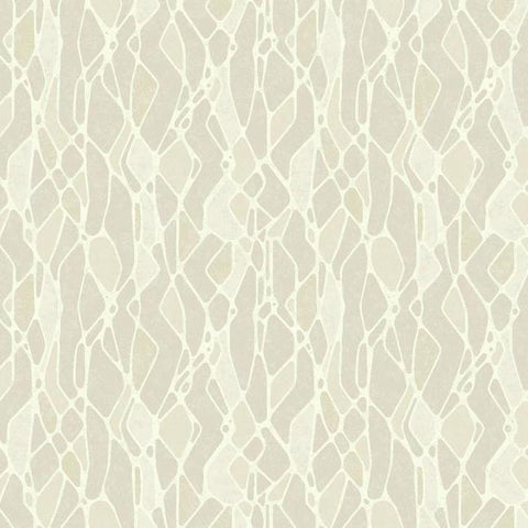 Stained Glass Wallpaper in Taupe from the Botanical Dreams Collection by Candice Olson for York Wallcoverings