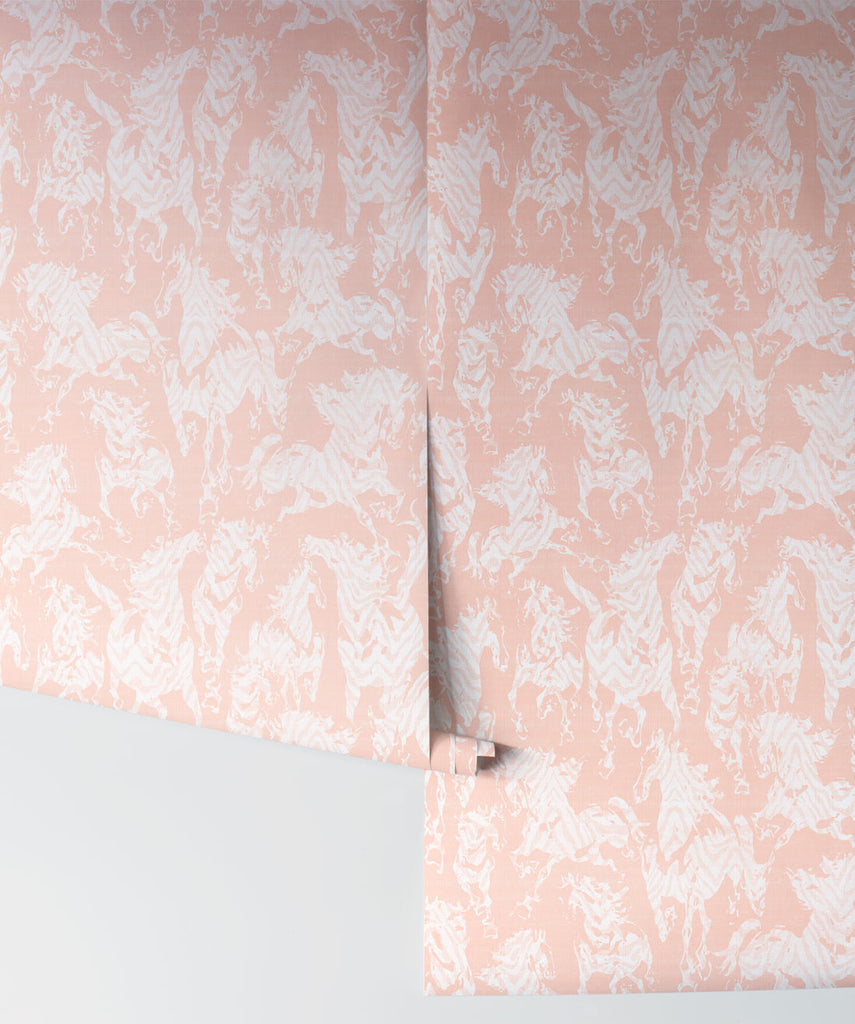 Stampede Wallpaper in Terracotta by Sixhands for Milton & King