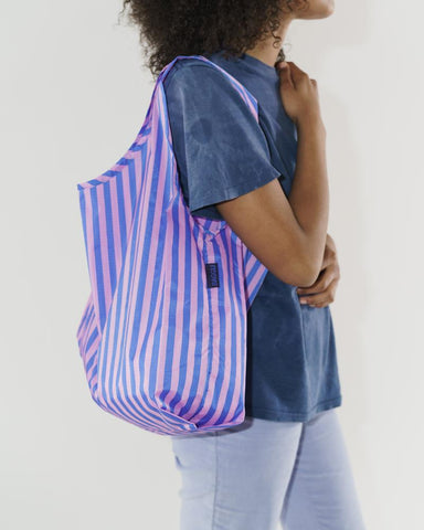 Standard Baggu in Stripe Pink and Blue