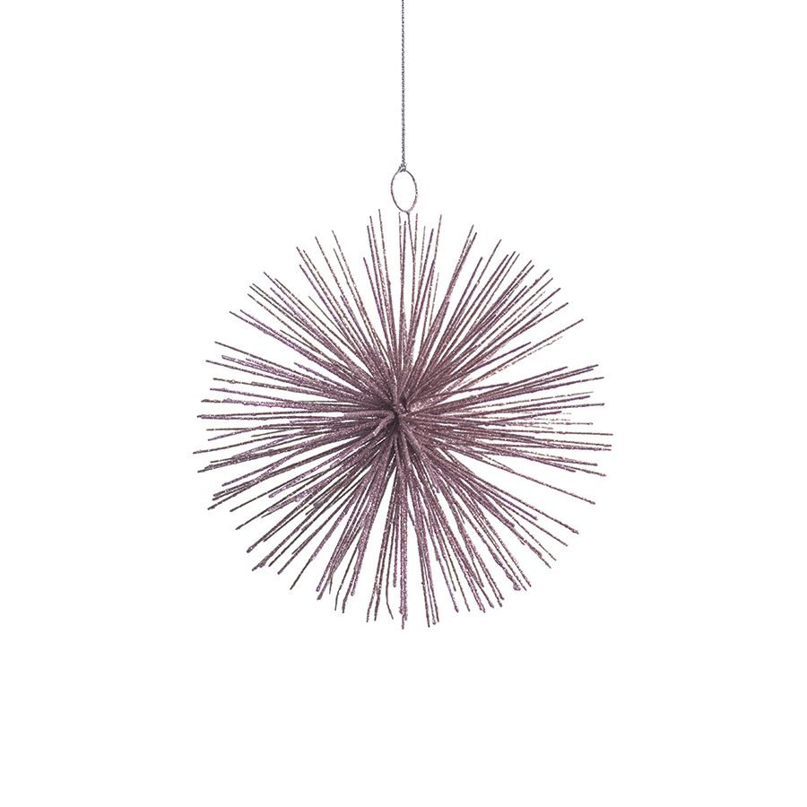 Starburst Pink Wire Hanging Ornament in Various Sizes