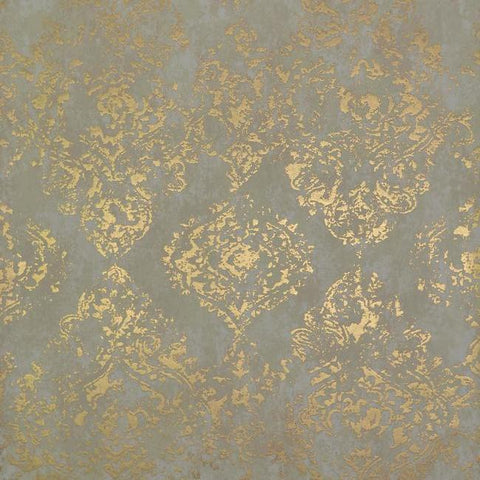 Stargazer Wallpaper in Almond and Gold by Antonina Vella for York Wallcoverings