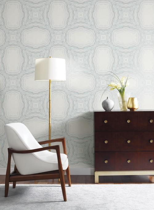 Stone Kaleidoscope Wallpaper from the Natural Opalescence Collection by Antonina Vella for York Wallcoverings