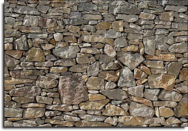 Stone wall wall mural design by komar for brewster home for Brewster home fashions komar wall mural