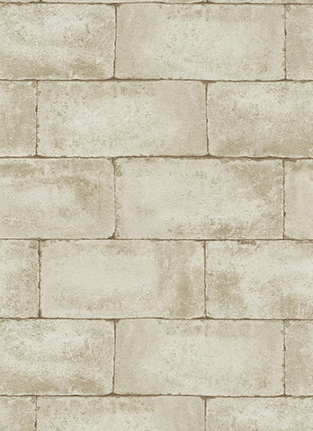 Stone Wall Wallpaper in Beige and Brown design by BD Wall