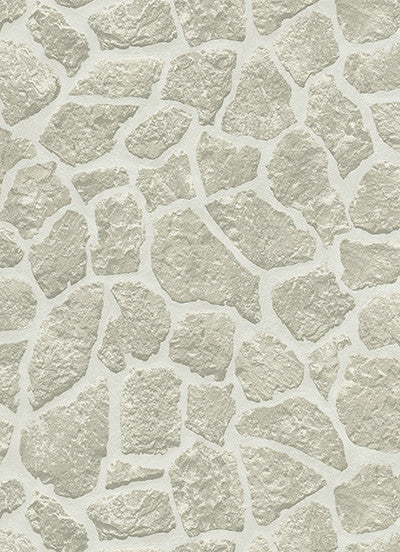 Stone Wallpaper in Light Grey design by BD Wall