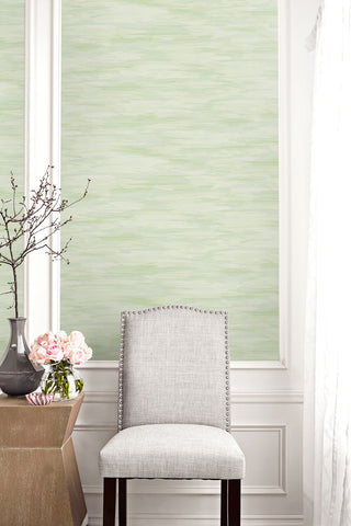 Stria Wash Wallpaper in Green Sprout from the Living With Art Collection by Seabrook Wallcoverings