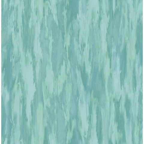 Stria Wallpaper in Blue and Green from the French Impressionist Collection by Seabrook Wallcoverings