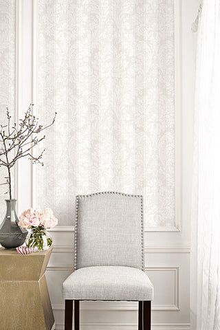 Striped Damask Wallpaper from the Spring Garden Collection by Wallquest