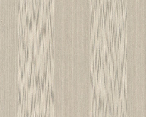 Stripes Faux Fabric Wallpaper in Beige and Neutrals design by BD Wall