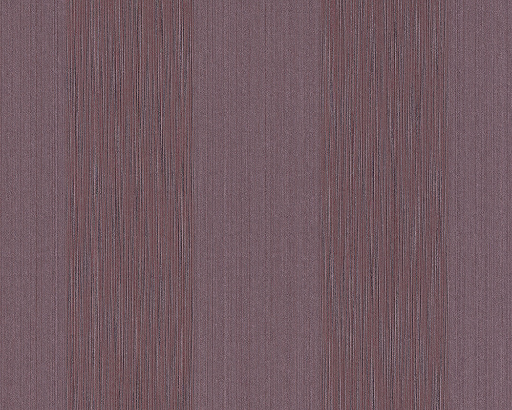 Stripes Faux Fabric Wallpaper in Purple design by BD Wall