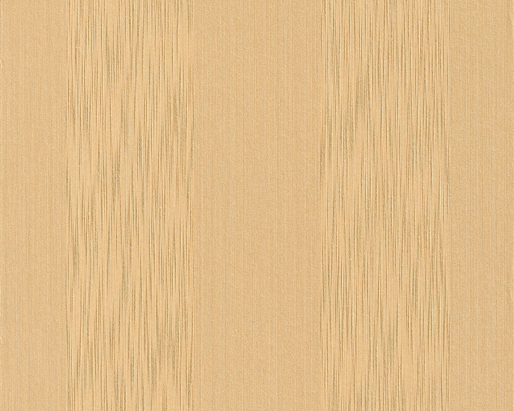 Sample Stripes Faux Fabric Wallpaper in Yellows design by BD Wall