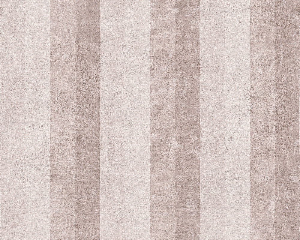 Stripes Wallpaper in Beige and Cream design by BD Wall
