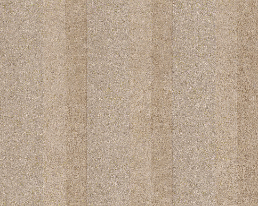 Sample Stripes Wallpaper in Beige and Metallic design by BD Wall