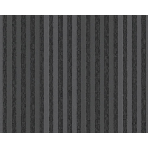 Stripes Wallpaper in Black design by BD Wall