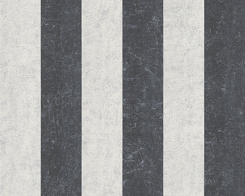 Stripes Wallpaper in Metallic and Black design by BD Wall