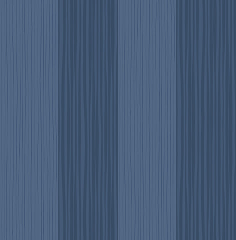 Stripes Wallpaper in Navy from the Day Dreamers Collection by Seabrook Wallcoverings