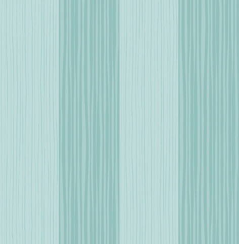 Stripes Wallpaper in Teal from the Day Dreamers Collection by Seabrook Wallcoverings