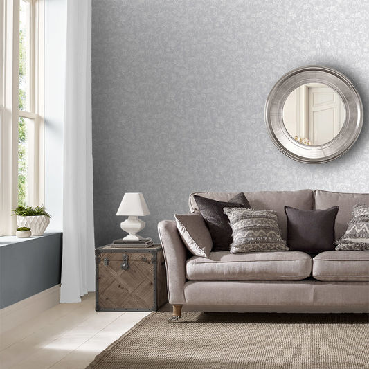 Stroma Wallpaper in Stone from the Exclusives Collection by Graham & Brown