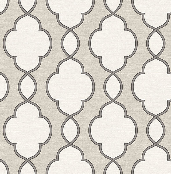 Sample Structure Silver Chain Link Wallpaper from the Symetrie Collection by Brewster Home Fashions