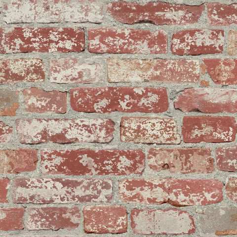 Stuccoed Brick Peel & Stick Wallpaper in Dark Red by RoomMates for York Wallcoverings