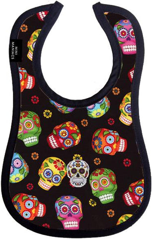Sugar Skull Baby Bib by Mini Maniacs