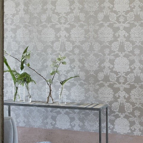 Sukumala Lino Wallpaper in Chalk from the Edit Vol. 1 Collection by Designers Guild