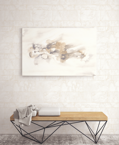 Sulaco Wallpaper in Gold and Cream from the Solaris Collection by Mayflower Wallpaper