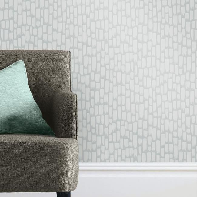 Sumi-E Peel & Stick Wallpaper in Silver by RoomMates for York Wallcoverings