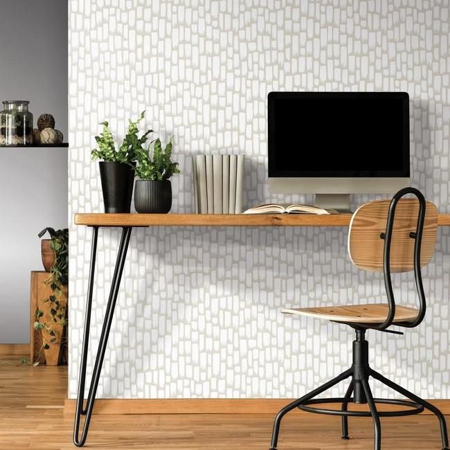 Sumi-E Peel & Stick Wallpaper in Taupe by RoomMates for York Wallcoverings