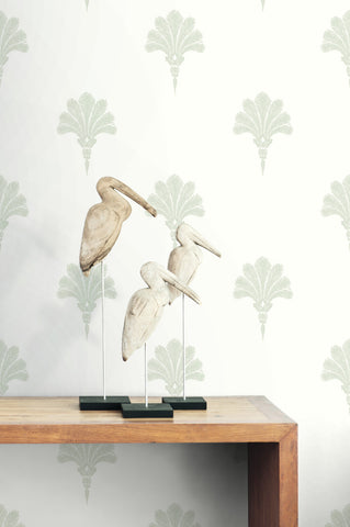 Summer Fan Wallpaper from the Beach House Collection by Seabrook Wallcoverings