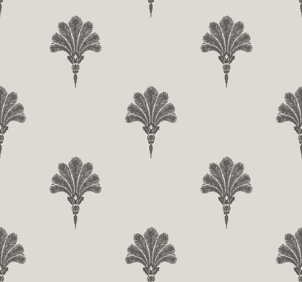 Summer Fan Wallpaper in Black Sands from the Beach House Collection by Seabrook Wallcoverings